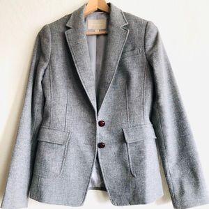 Banana Republic gray coat jacket elbow patches sz4